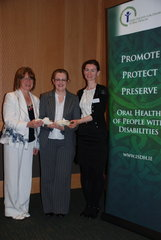 Mary O'Farrell and Carmel Parnell receive the ISDH