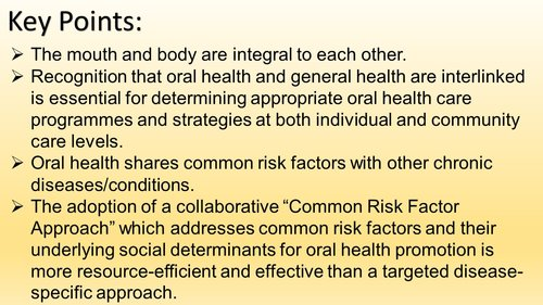 Key Points - Common Risk Factor