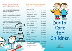 Leaflet Dental Care for Children