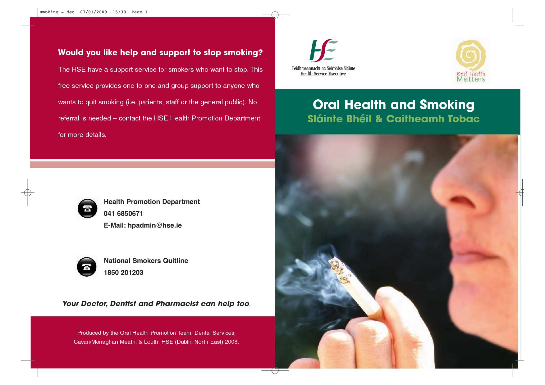Publication cover - Smoking