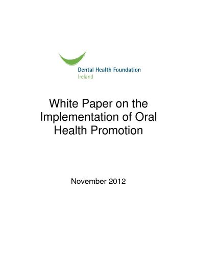 Publication cover - White Paper 2012