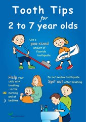 Tooth-tips posters 0-2 and 2-7 year olds